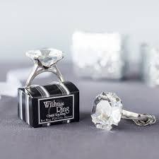 wedding favor keychains diamond ring keychain favor