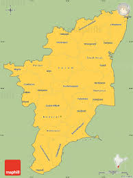 Blank Map Of India Pdf by Savanna Style Simple Map Of Tamil Nadu Cropped Outside