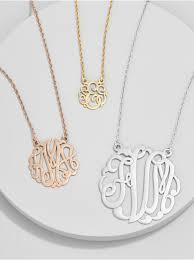 monogrammed necklace ribbon letter monogram necklace baublebar
