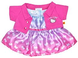 clothes for build a build a hello pink jacket bow dress 2 pc