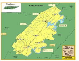 Tennessee Highway Map by Rhea County Tennessee Century Farms