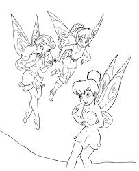 tinkerbell cartoon peter pan and tinkerbell coloring pages