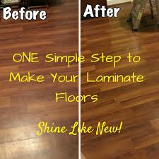 laminate floors them shine again honeysuckle footprints