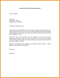 business recommendation letter sample letter or resignation nice