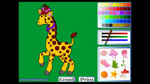 coloring picture giraffe coloring animals mary com game