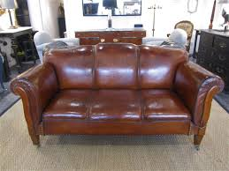 Leather Club Sofa A Leather Drop Arm Club Sofa In Seating