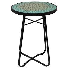 Mosaic Accent Table Turquoise Mosaic Patio Side Accent Table Free Shipping
