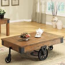 small table on wheels modern coffee table with wheels regarding like that it s easily