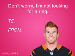 Valentines Cards Meme - this year s batch of nfl themed valentines day cards daily snark