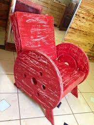 Cable Reel Chair Pallet And Cable Spool Chairs 99 Pallets