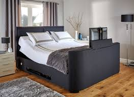 Bed Frame With Tv Built In The Truscott Tv Bed Is Both Stylish And Practical Keeping Your Tv