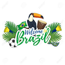 Welcome Flag Banner Poster Sign Invitation Welcome To Brazil Banner With