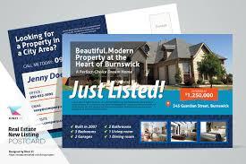 real estate new listing postcard card templates creative market