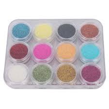 12 color nail art shiny sparkle glitter powder dust tips manicure