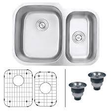 30 inch double bowl kitchen sink ruvati rvm4500 undermount 16 gauge 29