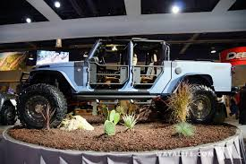 starwood jeep blue 2016 sema lund starwood bandit jeep jk wrangler pickup