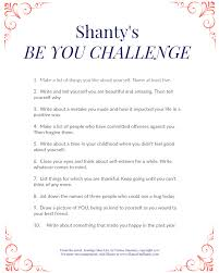 shanty s be you challenge 7 list things for which you re