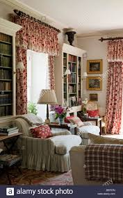 traditional english country house drawing room fireplace stock
