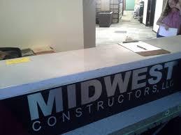 Gray Reception Desk Gray Concrete Reception Desk
