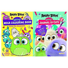 angry birds hatchlings mega colouring book u0026 journal cute