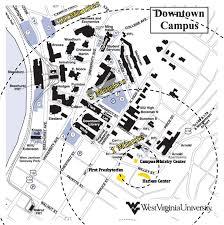 wvu evansdale map location harless center