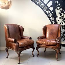 Vintage Brown Leather Chair Napoleonrockefeller Com Collectables Vintage And Painted Furniture