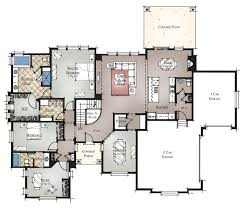 spacious craftsman style ranch plan on 1 2 acre walkout property floor plan