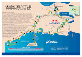 Seattle Elevation Map by Seattle Marathon Map Lake Union Seattle Wa Usa U2022 Mappery