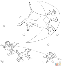 hey diddle diddle coloring page free printable coloring pages