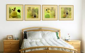 easy simple bedroom decor with nice photograph art on the wall