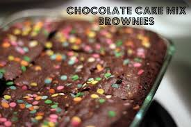 recipe chocolate cake mix brownies life with levi