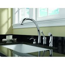 delta 4380 sd dst pilar kitchen faucet with side spray and soap