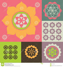 vector ornament from lotus flower symbols stock vector image