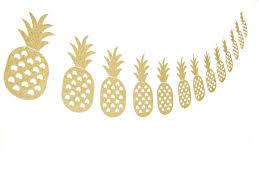 tropical gold glitter pineapple garland glitter garland