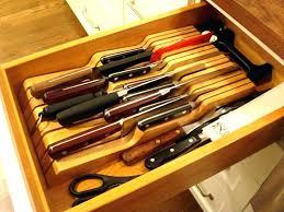 kitchen cabinet knife drawer organizers kitchen knife drawer organizer in drawer bamboo knife block drawer