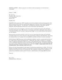 business letter for proposal cover letter sample