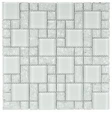 crackled glass mosaic tile french pattern ice crackle glass