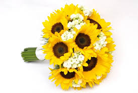 bridal bouquet flowerandballooncompany archive sunflower bridal bouquet