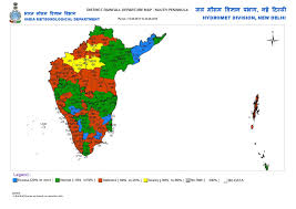 South India Map by Vagaries Of The Weather