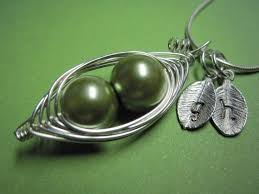 2 peas in a pod jewelry peas in a pod necklace 2 3 or 4 peas your color pea pods