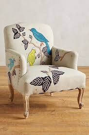 Funky Chairs For Living Room Treescape Dorrance Chair Birds Bird Anthropologie And Upholstery