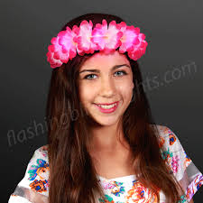 flower headbands pink led flower headbands light up festival fashion by