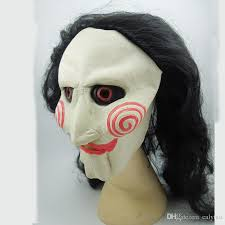 Costume Halloween Scary Latex Mask Long Black Hair Movie Mask Creepy