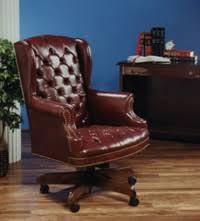 tufted leather desk chair tci furniture chairs seating large executive chair