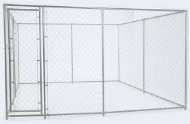 jewett cameron lucky dog 6hx5wx15l chain link kennel kit cl