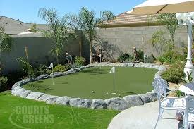 Building A Backyard Putting Green Courts And Greens Backyard Custom Putting Greens