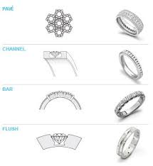 different types of wedding bands setting styles on band wedding bells diamond