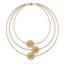 personalized bracelet multi strand personalized bracelet for in 14k yellow gold