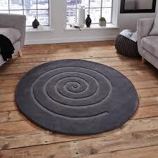 Grey Round Rug Circular Wool Rugs Roselawnlutheran