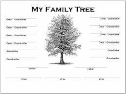 4 Generation Family Tree Template Word Pictures Reference Family Tree Template